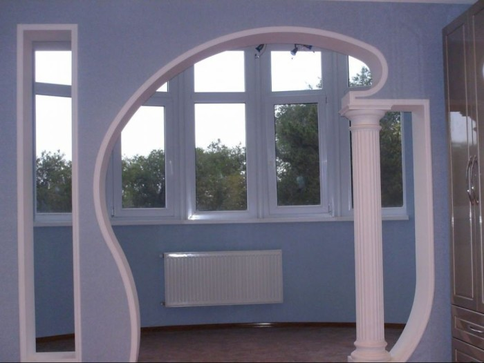 Decorative arches between the kitchen and the hall  Living